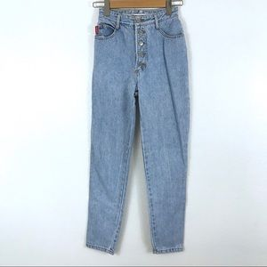 BONGO Light Wash High Waisted Buttonfly Mom Jeans